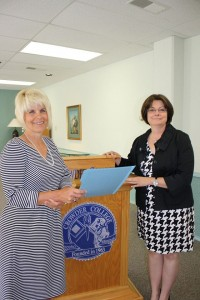 Photo contributed Dr. Jennifer Methvin presented Cindy Branscum with a $1,000,000 anonymous donation!