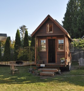 Photo obtained. A tiny house in Portland displays the simplicity yet rustic elegance that these small homes-on-wheels offer.