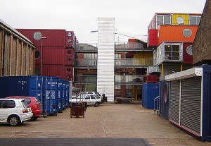 Photo obtained Container cities 1 and 2 in Leamouth, London display how ISBU shipping containers can create contemporary living space.