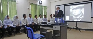 Mark Shryock teaches the values of American culture to second year interns at a medical college in Dhaka, Bangladesh prior to his time working at Crowder College.