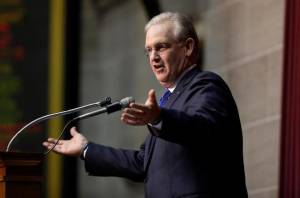 "Governor Jay Nixon talks about education during his 2015 ""State of the State Speech""."