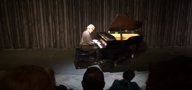Robert Ensor, Neosho campus music instructor, performed a piece by Chopin for Crowder's inaugural fine arts week. Multimedia Specialist. Alexis Arenas Andrade gives the full report.