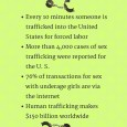 "According to the United States Department of State, ""human trafficking"" has been used to cover a wide variety of human enslavement where one person holds another in compelled service, or acquires another person for compelled service. This can include forced […]"