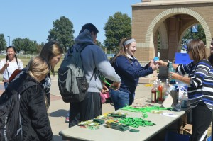 The Crowder Cares team participated in Wellness Week last month, handing out stress relief devices and snow cones in the quad.