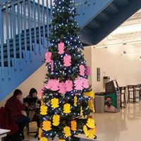The Angel Tree is set up in the Farber Building lobby each year.
